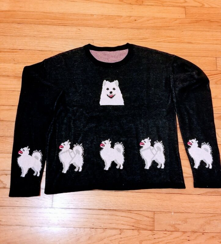 LADIES Samoyed Finnish Spitz American Eskimo sweater dog blouse new GoldenHorn