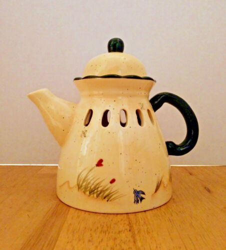 Homco Home Interiors Teapot Accent Candle Cover