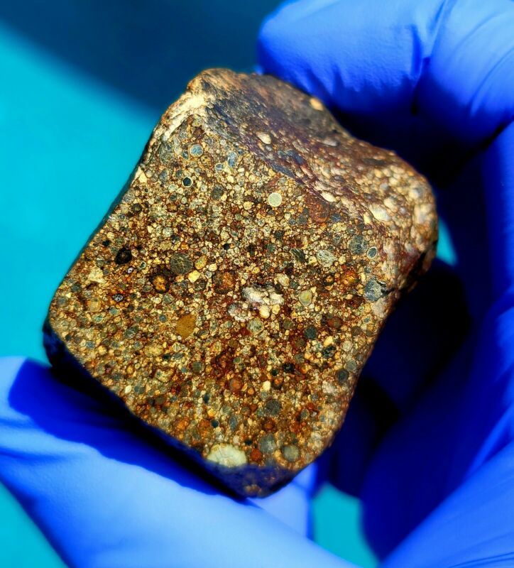 Meteorite**prob. Type 3**223.78 gram, Flight Oriented Individual!! W/Flow Lines!