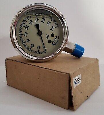 Cop 2.5 Liquid Filled Pressure Gauge 0-300 Psi