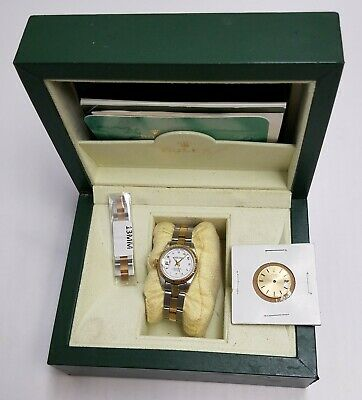 1972 Rolex Lady Datejust Oyster Perpetual Watch w/ Box Papers Extra Face & Links