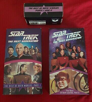 Lot of 2 VHS Tapes Star Trek TNG Best of Both Worlds PARTS 1 and 2 VERY (Star Trek Best Of Both Worlds Part 2)