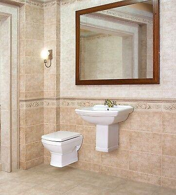 H nge waschbecken keramik retro inkl s ule h nge wc for Waschbecken komplett set