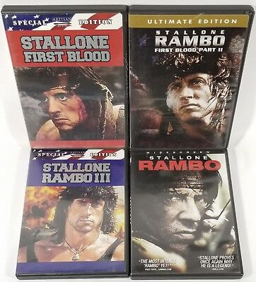 Rambo 4-Movie Collection 1, 2, 3, 4 [6-Disc DVD LOT (First Blood, Part 2, III)]