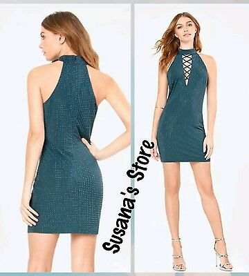 NWT bebe Lexi Studded Dress SIZE XL Glamorous & sexy with shimmering studs $183