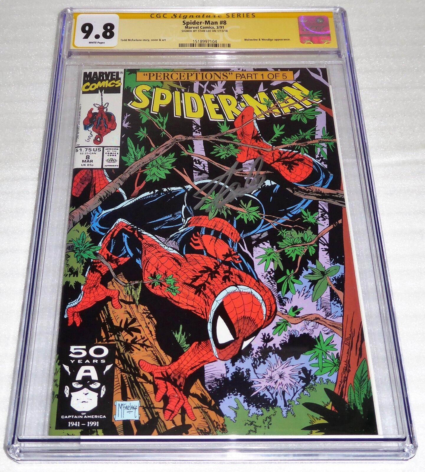 Spider-Man #8 CGC SS 9.8 Signature Autograph STAN LEE Wolverine & Wendigo Appear