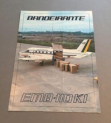 EMBRAER BANDEIRANTE EMB-110 K1 MANUFACTURERS SALES BROCHURE