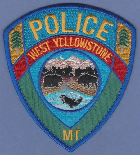 WEST YELLOWSTONE WYOMING POLICE SHOULDER PATCH NEW STYLE