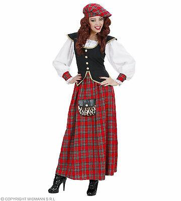 Schottische Frau (Kleid, Hut) - - Schottische Kostüme