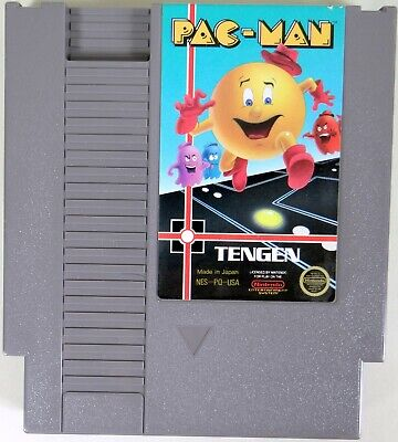 Vintage NINTENDO PAC-MAN BY TENGEN ORIGINAL NES VIDEO GAME CARTRIDGE