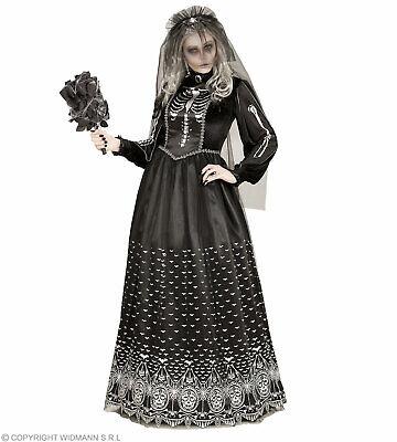 Skelettbraut (Kleid mit Reifunterrock, Brautschleier) - Kostüm