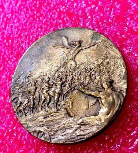 WW I 1918 Allied United States,Great Britain,France,Belgium Italian medal /Angel