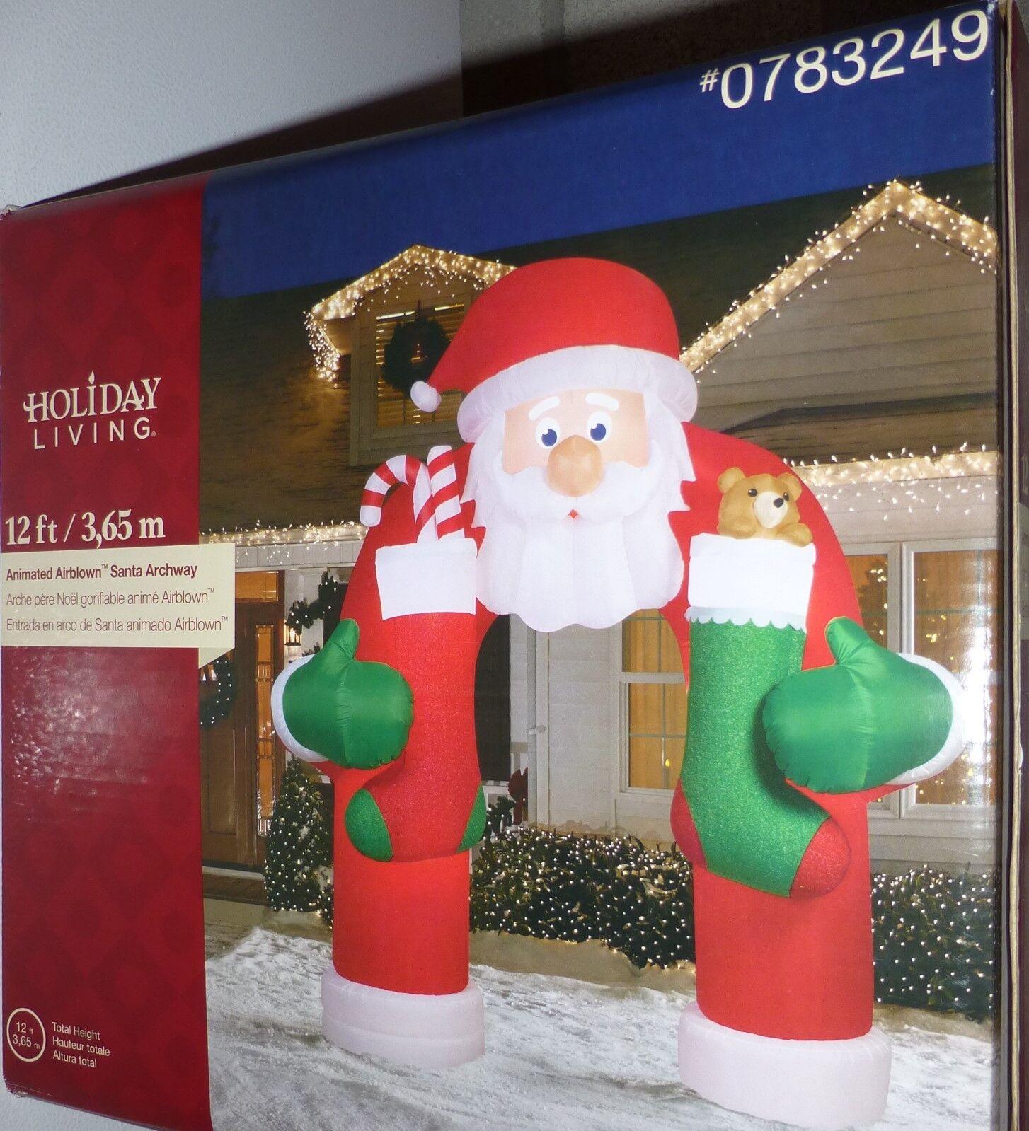 12ft Tall Animated Santa Archway Christmas Airblown Inflatable Yard Decor