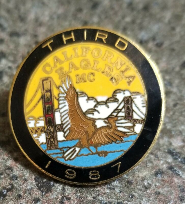 Gay S.F. Eagle 3rd Anniversary  Vest Pin 1987