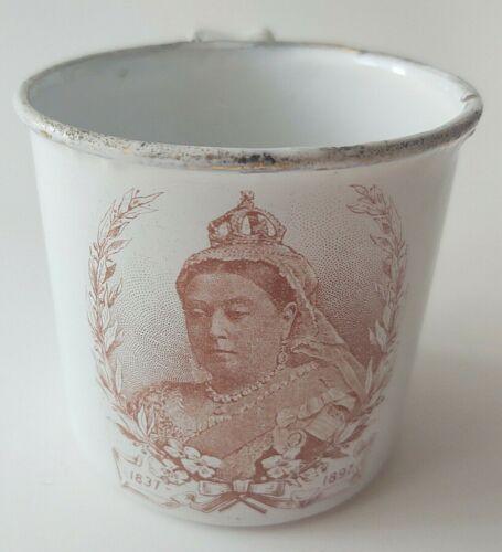 Queen Victoria small enamel mug