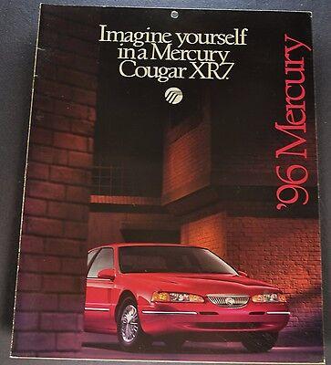 1996 Mercury Cougar XR7 Catalog Sales Brochure Excellent Original 96