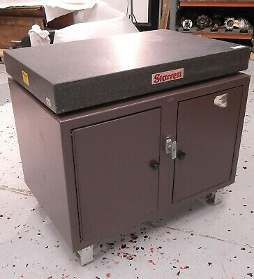 Starrett Grade A Superior Black Granite Surface Plate 36x4x4 W G-8154 Stand