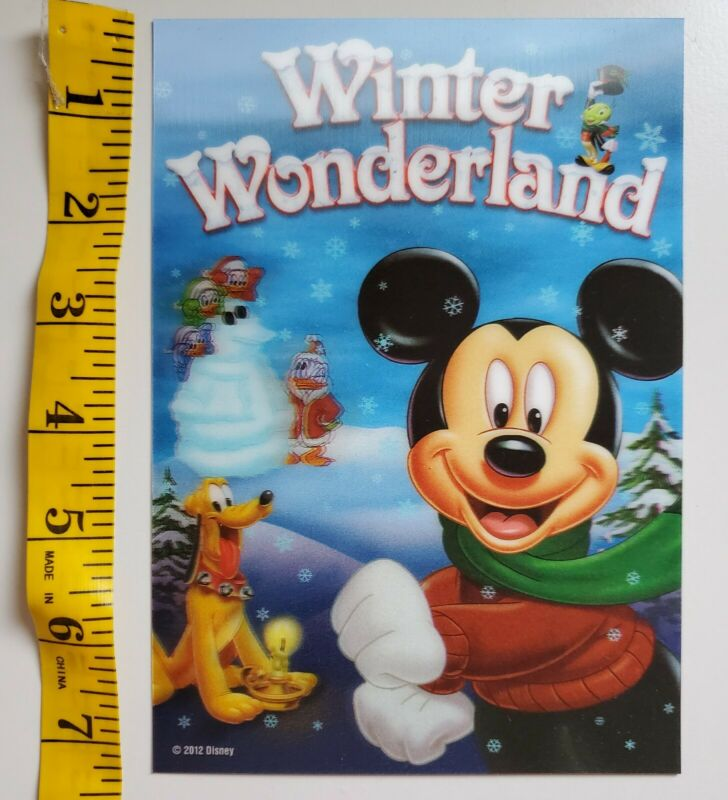 Disney Movie Club 3D Lenticular Card 5x7 Mickey Winter Wonderland