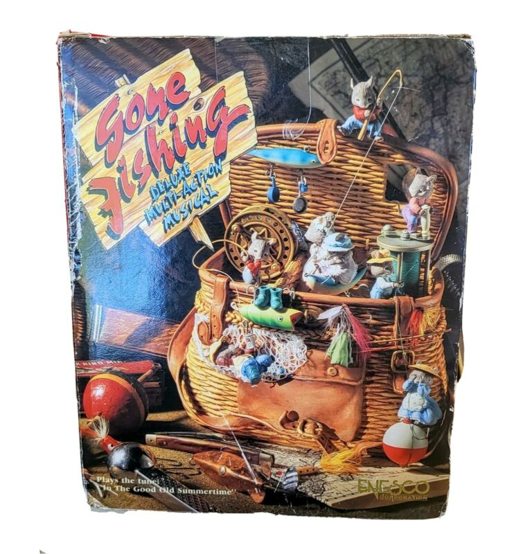 """Enesco """"Gone Fishing"""" Multi Action Musical 1990. """" In the Good Old Summertime"""" ."""