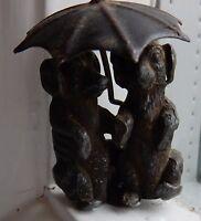 Miniature Spelter Object De Vertu , Bijoux Pair Dogs Under Umbrella (to Restore -  - ebay.co.uk