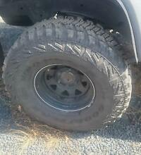 4x GoodYear Wrangler 315/75r16 tyres on wheels Patrol Landcruiser Adelong Tumut Area Preview