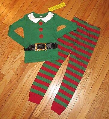Crazy 8 Elf Pajamas BoysGirls Christmas 12-18M,18-24M,2T,3T, 4,5,6,7,8,10,12 NWT