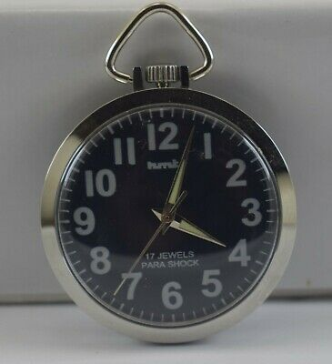 Vintage HMT 17Jewels Winding Pocket Watch For Unisex Use Working Good D-226-1