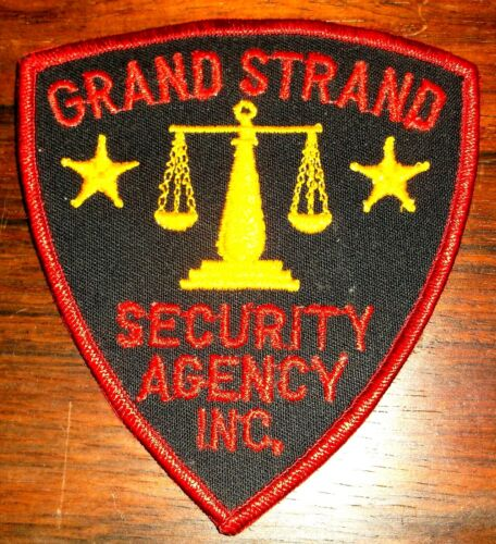 GEMSCO NOS Vintage Patch SECURITY - GRAND STRAND SECURITY AGENCY - 40+ year old
