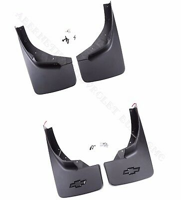 2014-2018 Silverado GM Front & Rear Black Molded Splash Mud Guards 22894857 7353