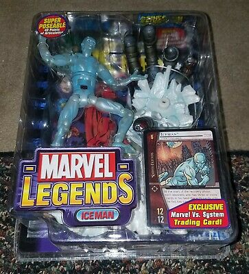 Marvel Legends Series 8 ICEMAN X MEN NIB 2004. New in the box!!!!