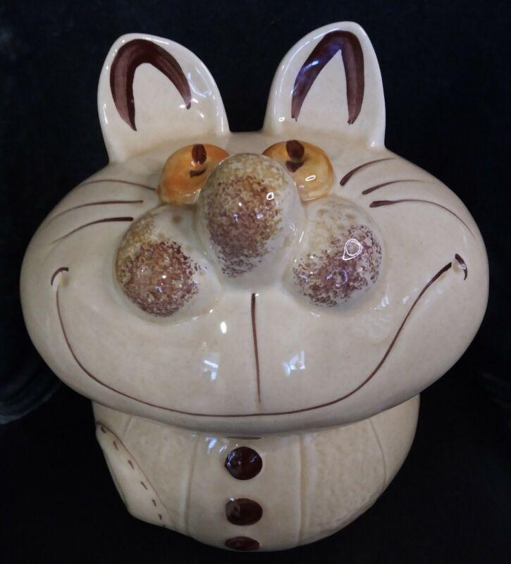 Vintage Disney *Alice in Wonderland* Cheshire Cat Cookie Jar -Retro 70