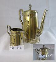 Antico Servizio Da Caffe' Art Nouveau Caffettiera Lattiera Zuccheriera R70 R23 -  - ebay.it