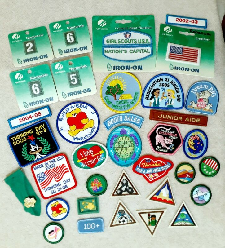 Vintage Lot Of 35 Girl Scout Badges /Patches / Pin / NEW