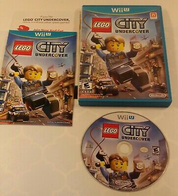 LEGO City Undercover (Nintendo Wii U 2013) Complete Manual Case Tested Disc CIB