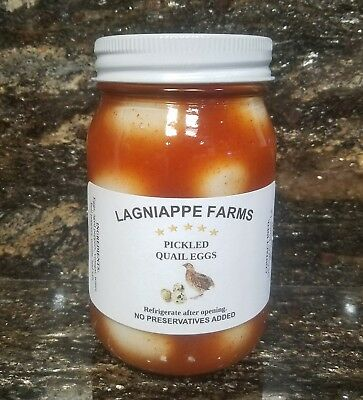 A Taste of Louisiana, Pickled Quail Eggs, Fresh from our Farm to your Table.