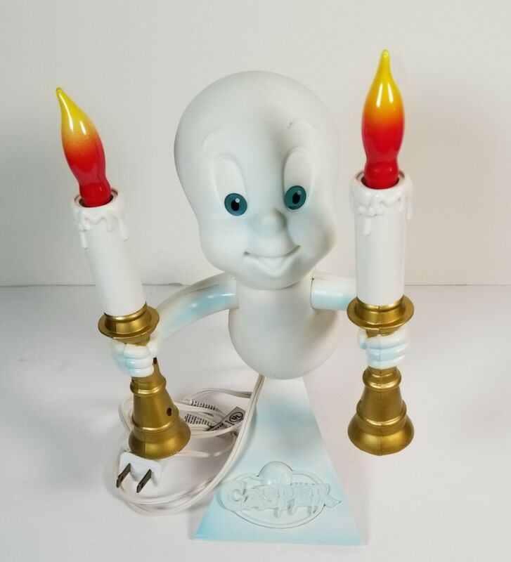 1996 Casper the Friendly Ghost Candelabra Light Up Candles Halloween