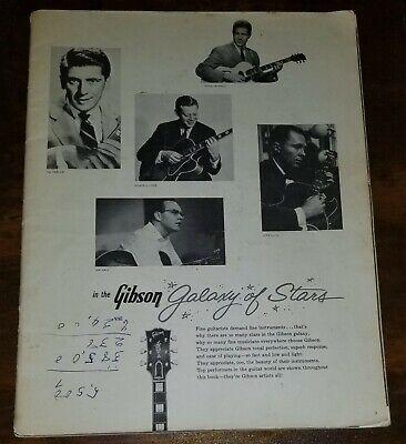 Rare GIBSON GUITARS MAY 1961 CATALOG Les Paul Galaxy of Stars NO COVER