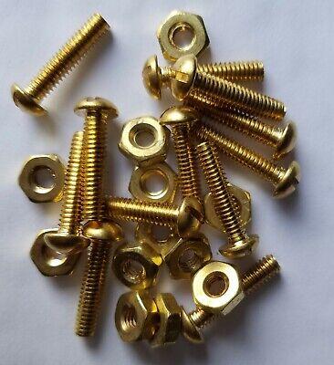 8-32 Brass Round Head Machine Bolts Nuts.trap Pan Bolt 34 Long. L562