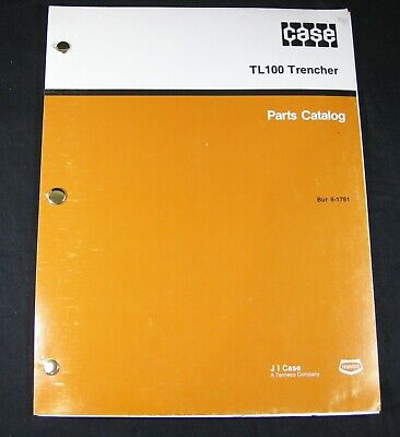 Case Davis Trimline 100 Tl100 Trencher Parts Manual Book Catalog