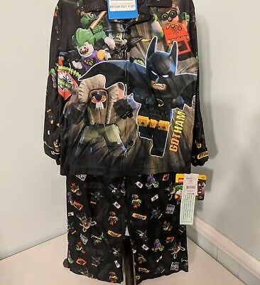LEGO BATMAN ROBIN JOKER Flannel Pajamas Sleepwear Set Boys Sz.6/7 $34 Batman And Robin Pajamas
