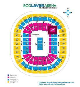 2 x AUSTRALIAN OPEN Category 1 Tickets Sat 21 Jan Hornsby Hornsby Area Preview