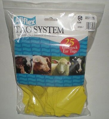 Allflex Tag Blank Maxi Male Yellow Gxfgsm-y Livestock Identification 25package