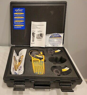 Brady Idxpert Handheld Labeler Maker With Case Tested - 1010 Mint Condition