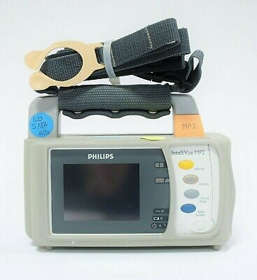 Philips Intellivue Mp2 M8102a Portable Patient Monitor Biomed Cert Wwarranty