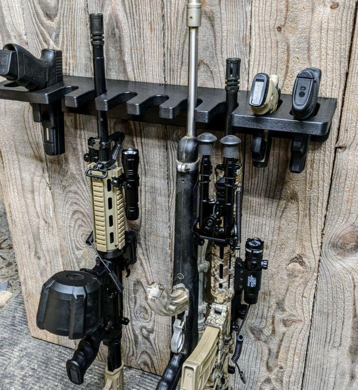 CLOSET GUN RACK TACTICAL HOSTLER 10 PISTOL RIFLE GUNSAFE SEMI AUTOMATIC HAND GUN