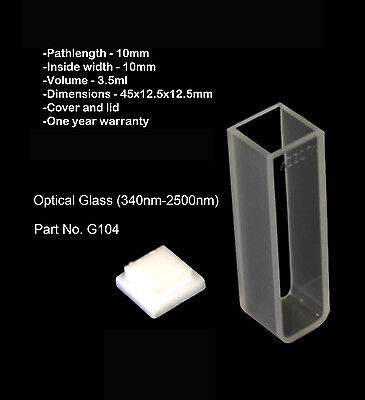 Azzota 10mm Standard Glass Cuvette - 3.5ml
