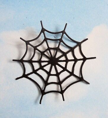 Die Cut  Halloween spider webs x 10, black, silhouette , topper, card making,