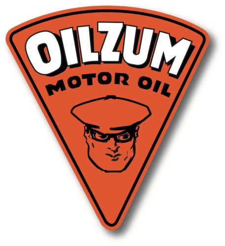 """OILZUM SUPER HIGH GLOSS OUTDOOR 4 x 5"""" OILZUM MOTOR OIL DECAL STICKER"""