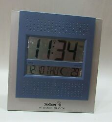 Skyscan 9x10 Atomic Clock 86715 w Moon Phase Time Date Day Year Seconds FREE S/H