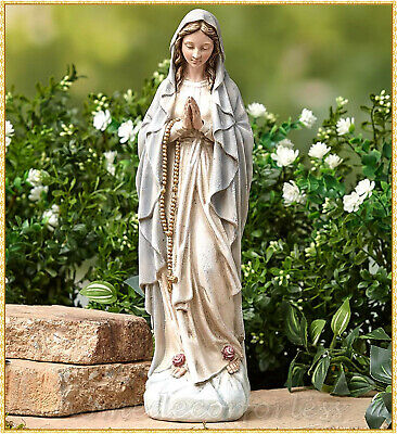 Virgin Mary Blessed Mother Religious Garden Lawn Outdoor Statue Sculpture 14""
